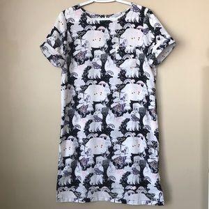 Simons Twik Animal Print Dress